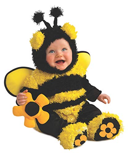 Rubie's Costume Noah's Ark Buzzy Bee Romper Costume, Yellow, Newborn -