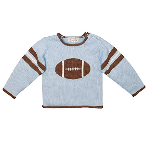 - Zubels 100% Hand-Knit Football Sweater All Natural Fibers