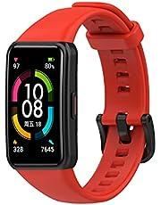 لينة هونر باند 6 حزام سيليكون لهونر 6 أحادية اللون شبكة رياضية ناعمة - أحمر