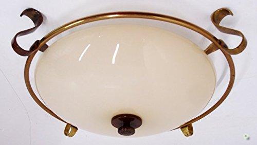 Plafoniere Messing : Deckenlampe art deco messing glas hellgelb cm plafoniere