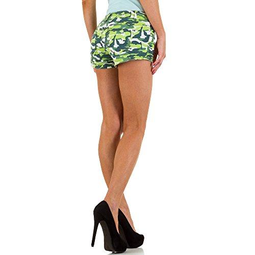 Hot Pants Camouflage Shorts Für Damen , Grün In Gr. L/40 bei Ital-Design