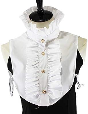 BINGHONG3 blusa de media camisa estilo vintage victoriano con volantes y cuello falso para mujer: BINGHONG3: Amazon.es: Hogar