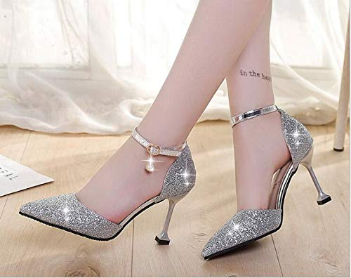 Amazon Com Women Fashion Pumps High Heels Shoes Gold Black Silver