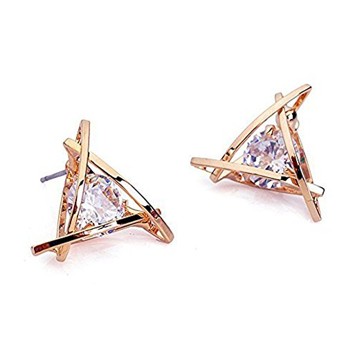 Carfeny Earrings Triangle Sparkling Starlight