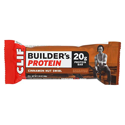 Clif Bar Builder Protein Bar – Cinnamon Nut – Case of 12-2.4 oz