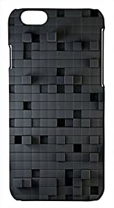Generic 3D Cubes Black Hard Case for iPhone 6