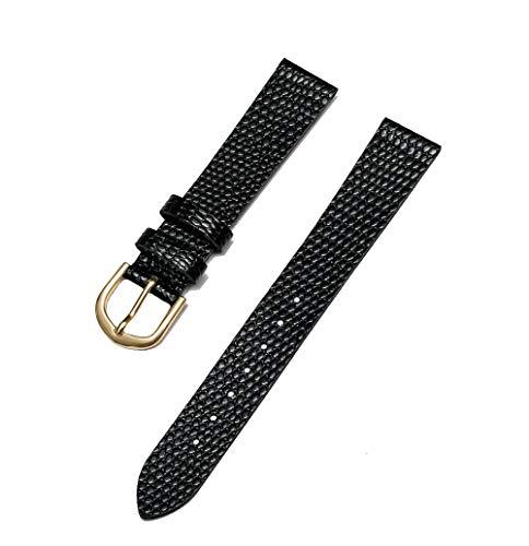 - Timex Men's TX2275 Black Lizard Grain Leather Replacement 16mm Dress Watch Band