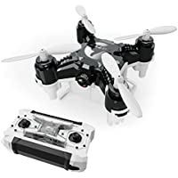 FUQI Pocket Drone 4CH 6Axis Gyro Quadcopter with Switchable Controller Helicopter Toys with 2.0MP HD Camera(Black)