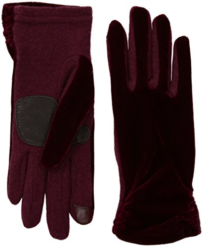 Echo Women's Classic Velvet Glove, port, Small (Echo Touch Gloves)