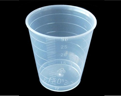 Medicine Measure Pot 60ml x 100. Polythene. Autoclavable. ()