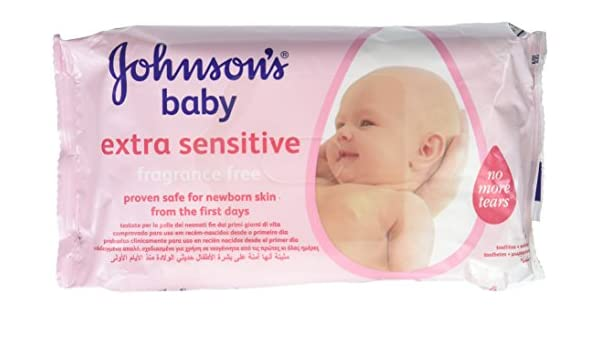 Amazon.com : JohnsonS Baby Extra Sensitive Wipes Fragrance Free - 1 X 56 Pack Wipes : Baby