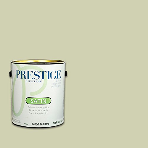 Prestige, Greens and Aquas 9 of 9, Interior Paint and Primer In One, 1-Gallon, Satin, Soft (Meadow Green Satin)