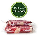 2 Rolls 11-Inch-by-50-Foot Vacuum Food Sealer Bags