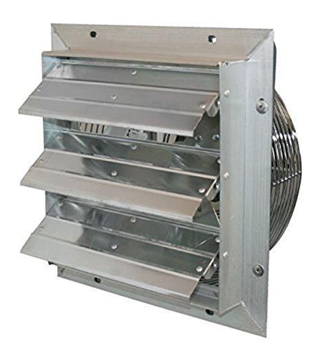 J&D Manufacturing VES201 ES Aluminum Shutter Fan, 20'' Size, 115V/230V, 1/10 hp, Chrome,1 Phase, Variable Speed