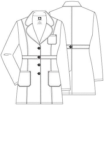 Adar Universal Women's 33'' Adjustable Belt Lab Coat - 2817 - White - L by ADAR UNIFORMS (Image #3)