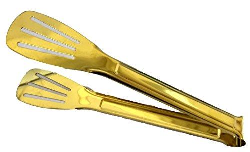 - Multi-Purpose Golden Serving Tongs