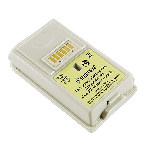 Insten Compatible With MS xBox 360 White Replacement Battery