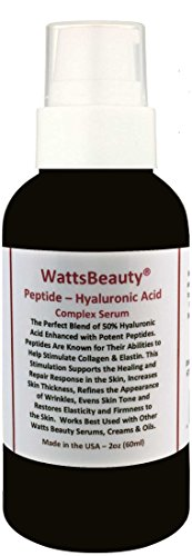 Watts Beauty Peptide Firming Wrinkle & Collagen Booster with Hyaluronic Acid, L - Arginine & Potent Peptides - Made in USA