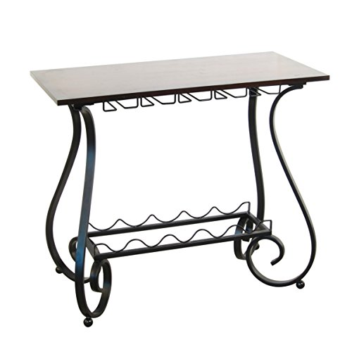 Wood And Metal Wine Console - 5