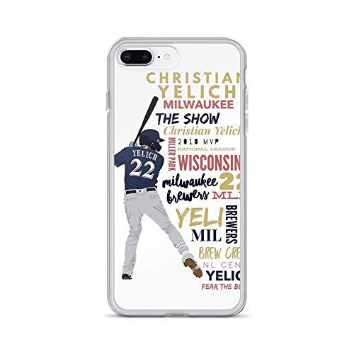 - iPhone 7 Plus/8 Plus Pure Clear Case Cases Cover Christian Yelich - Brewers