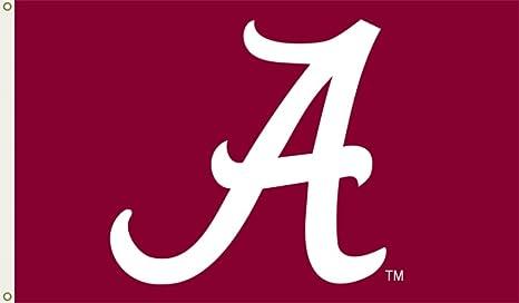 amazon com ncaa alabama crimson tide flag with grommets 60 x 36in rh amazon com alabama band logo font Alabama Crimson Tide Logo
