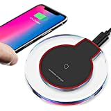 2019 Updated Wireless Charger Qi Wireless Charger Pad Compatible with ¡Phone Xs MAX XR X 8 8 Plus 7 7 Plus 6s 6s Plus 6 6 Plus and More WX007