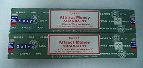 (Satya Attract Money Incense Sticks - Set of 2 Packs of 15 Grams)
