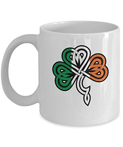 Irish Flag Celtic Knot St Patricks Day Shamrock Gift Mug]()