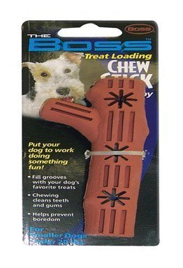 Boss Chew Stick Dog Toy Fillable With Treat Small Rubber by Boss Pet Products (English manual)