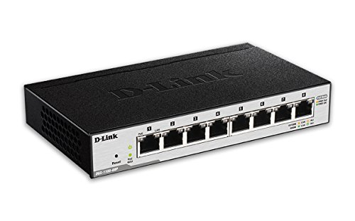 D-Link 8-Port EasySmart Gigabit Ethernet PoE Switch (DGS-1100-08P) by D-Link (Image #1)