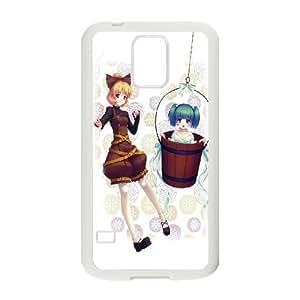 Touhou Project 9 39 Samsung Galaxy S5 cubierta de la caja blanca del teléfono celular de la cubierta del caso EVAXLKNBC08988