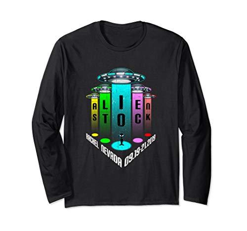 Alien Stock 2019 Music Festival UFOs in Rachel Nevada Long Sleeve T-Shirt (Best Stock Under 20 Dollars 2019)