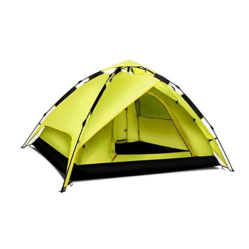 ピービッシュ子供時代ホールド自動ポップアップテントキャンプ3-4人キャンプテント のテント (色 : Green, サイズ さいず : Hydraulic)