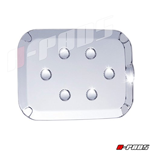 - A-PADS Chrome Gas Door Cover for Ford F250 SUPER DUTY 2011-2016 - Chromed Fuel Tank