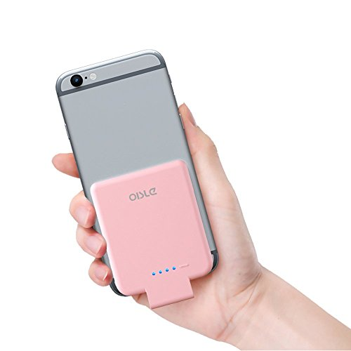 oisle Portable Charger Mini Power Bank PowerCore 2200mAh Wireless External Backup Battery Pack High-Speed Ultra Thin Charging Compatible with iPhone 5(s)/6(s)/7/8/X- Pink