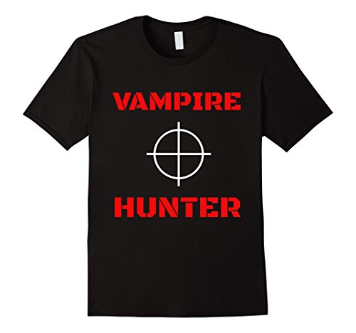 Mens Vampire Hunter Slayer Woodsman T-Shirt Large Black