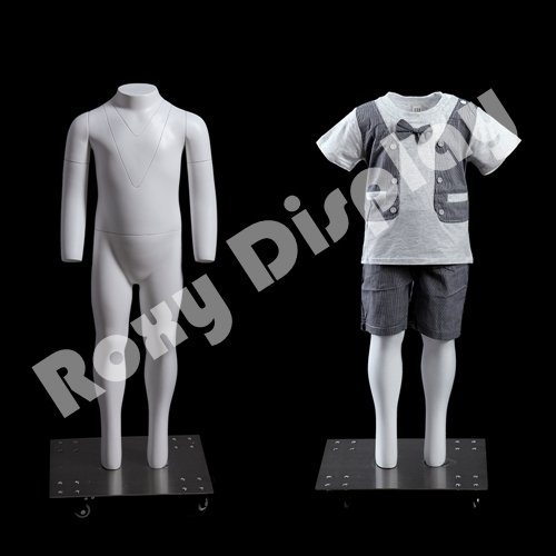 (MZ-GHK2) Invisible Ghost Mannequin!Removable neck and Arms. Invisible Ghost Mannequin!Removable neck and Arms. Headless 2 yrs. child. Standing Pose. Base (Female Ghost)