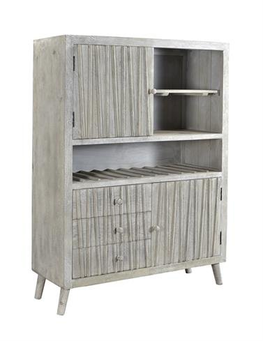 Three Drawer Two Door Wine Cabinet 98231