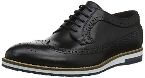 Bertie Bakers, Scarpe Stringate Brouge Uomo Nero (Black Leather Black Leather)