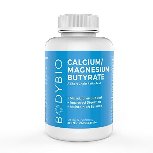 BodyBio - Cal-Mag Butyrate, Calcium & Magnesium 600mg, 250 Vegetarian Capsules ()