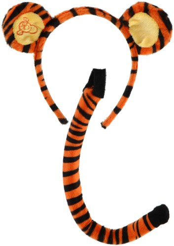 Elope Winnie the Pooh Tigger Ears Costume Headband and Tail Set (Tigger Head)