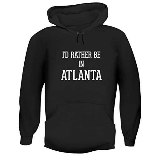 One Legging it Around I'd Rather Be in Atlanta - Hashtag Men's Funny Soft Adult Hoodie Pullover, Black, Small