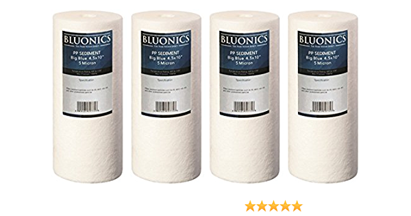 5 Micron 10 x 4.5 Whole House Big Blue Sediment and Activated Carbon Water Filter /& Pleated /& String Wound Cartridge Replacement for GE FXHTC GXWH40L FXHSC 2Combo GNWH38S GXWH35F R50-BBSA