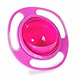 Aulley Universal Gyro Bowl Anti Spill Bowl Smooth 360 Degrees Rotation Gyroscopic Bowl for Baby Kids