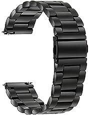 TRUMiRR kompatibel med Galaxy Watch 4/4 Classic/Watch3 41 mm/Garmin Vivoactive 3-armband, 20 mm Quick Release klockarmband rostfritt stål metall ersättningsband för Samsung Galaxy Watch 42 mm, Garmin Vivoactive 3