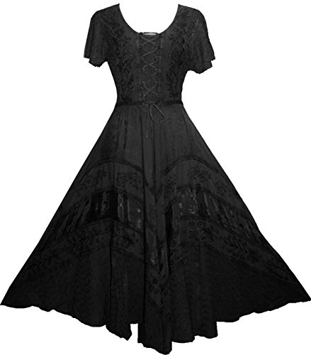 1c4c834404 1001 Wedding Evening Party Gothic Dazzling Costume Dress Gown [ S/M; Black]