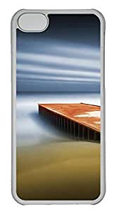 iPhone 5C Case, iPhone 5C Cases -Dream Pier Polycarbonate Hard Case Back Cover for iPhone 5C¨C Transparent