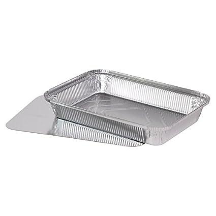 """50 bandejas de aluminio tapa cuadrada + tapa de cartón (tuberías) modelo """""""