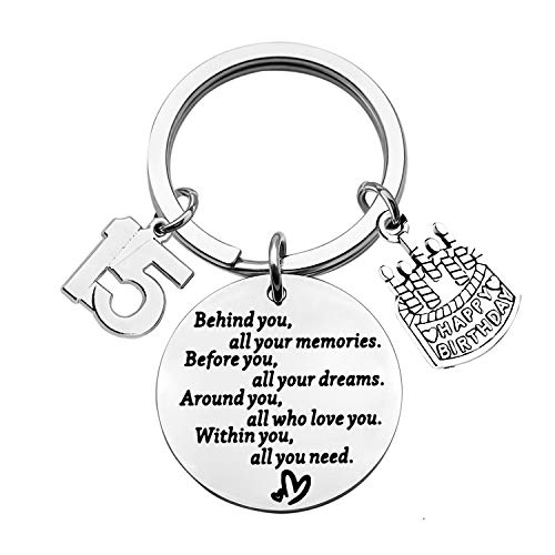 BEKECH Birthday Keychain Gifts