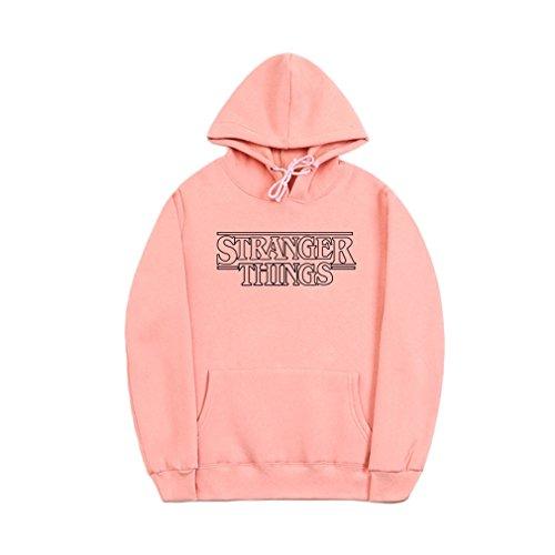 Price comparison product image CORIRESHA Letter Print Kangaroo Pocket Hoodie Sweatshirt Small